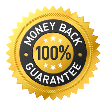 Money back 100% guarantee logo